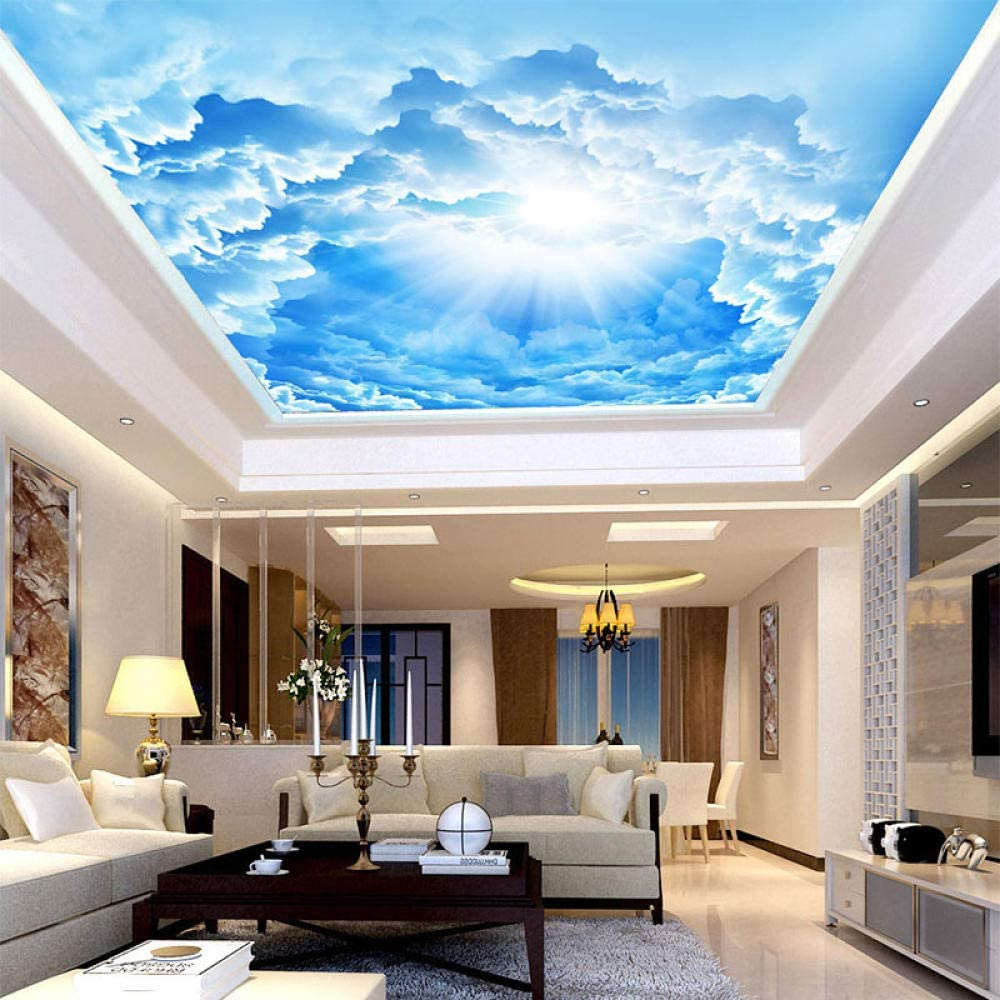 Custom Wall Mural Picture Decor Latest item 3D Blue Challenge the lowest price of Japan Sky Kid White Clouds and