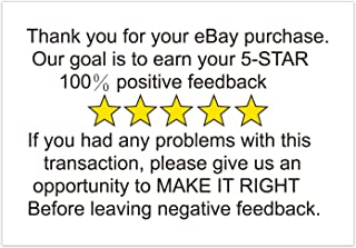 200 Thank You for Your Ebay Purchase Feedback Stickers, Alternatives Request 5-Star Positive Feedback Packaging, Help to Reduce Negative Feedback and Increase Positive Feedback Adhesive Label