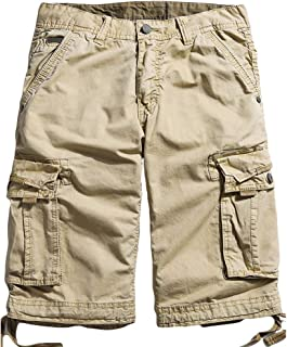 264fdf85da Northgard Men's Cargo Shorts Cotton Twill Relaxed Fit Multi Pocket Cargo  Short Pants