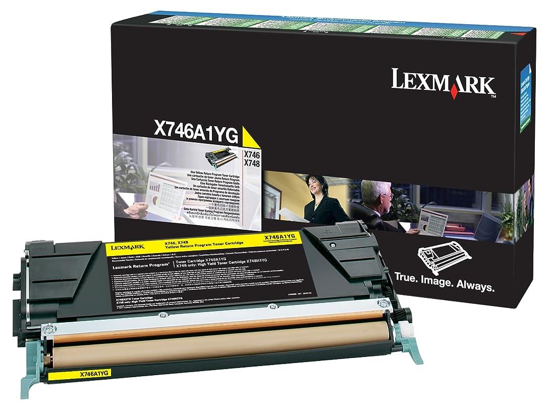 Lexmark Yellow Return Program Toner Cartridge, 7000 Yield (X746A1YG)