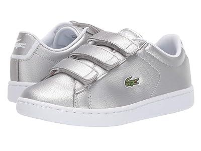 Lacoste Kids Carnaby Evo Strap 319 2 (Little Kid/Big Kid) (Silver/White) Kid