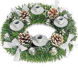Christmas Advent Wreath. for Advent Calendar Season Candle Holder -Centerpiece Décor – Advent Wreaths Ring Candle Holder a...