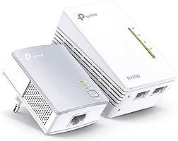 TP-Link TL-WPA4220 KIT - 2 Adaptadores de Comunicación por Línea Eléctrica (WiFi AV 600 Mbps, PLC con WiFi, Extensor,...