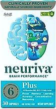 Neuriva Nootropic Brain Support Supplement - Plus Capsules (30 count in a box) Phosphatidylserine, B6, B12 and Folic Acid,...