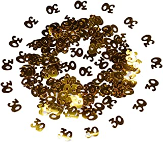 Happy Birthday Confetti 50g 2000 Pieces Gold Number Ligits 30 Happy Birthday Words Letters Confetti for Birthday Party and Special Events Table Scatters Decorations (Gold 30)