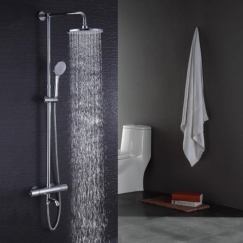 Hausbath Duschsule mit Wasserhahn Duschsystem Duschset Brauseset mit Duschstange mit Regendusche und Handbrause Duscharmatur überkopfbrause-Set (Mit Wasserhahn)