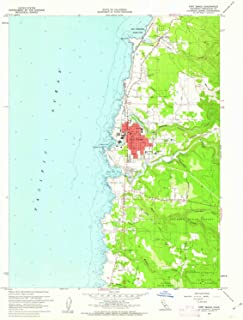 YellowMaps Fort Bragg CA topo map, 1:24000 Scale, 7.5 X 7.5 Minute, Historical, 1960, Updated 1962, 26.9 x 22 in