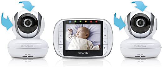 Motorola Video Baby Monitor with 2 Cameras, 3.5 Inch LCD Screen