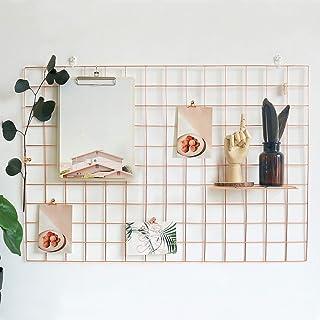 GBYAN Rejilla de pared, 2 unidades de paneles de rejilla de alambre para fotos, organizador de pared para notas, visualiza...