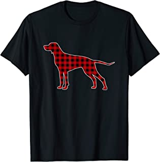 German Shorthaired Pointer Christmas Red Plaid Buffalo Gifts T-Shirt