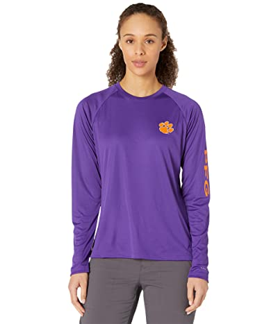 Columbia College Clemson Tigers Collegiate Tidal Long Sleeve Shirt Women