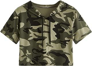 Best short sleeve crop top hoodie Reviews