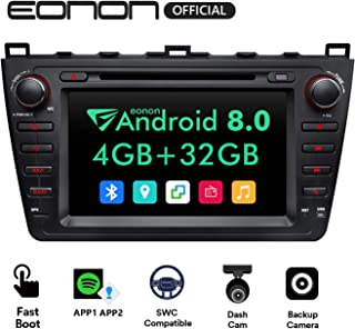 Android Auto and Carplay Car Stereo,Eonon 8 Inch Android Head Unit 4GB RAM+ 32GB ROM Octa-Core Android Car Radio Applicable to Mazda 6 2009,2010,2011 and 2012-GA9198B2
