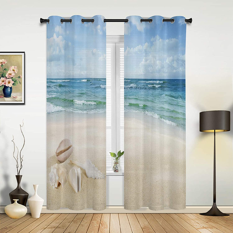 Window Sheer Curtains for Bargain Bedroom Seas Room Finally popular brand Coastal Living Ocean