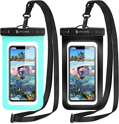 2021 Syncwire Waterproof Phone Pouch [2-Pack] - IPX8 Waterproof Phone Case Dry Bag with Lanyard Compatible with iPhone 2021 13/12/11 Pro XS MAX discount XR X 8 7 6 Plus SE 5s Samsung S10+ and More Up to 7 Inches online