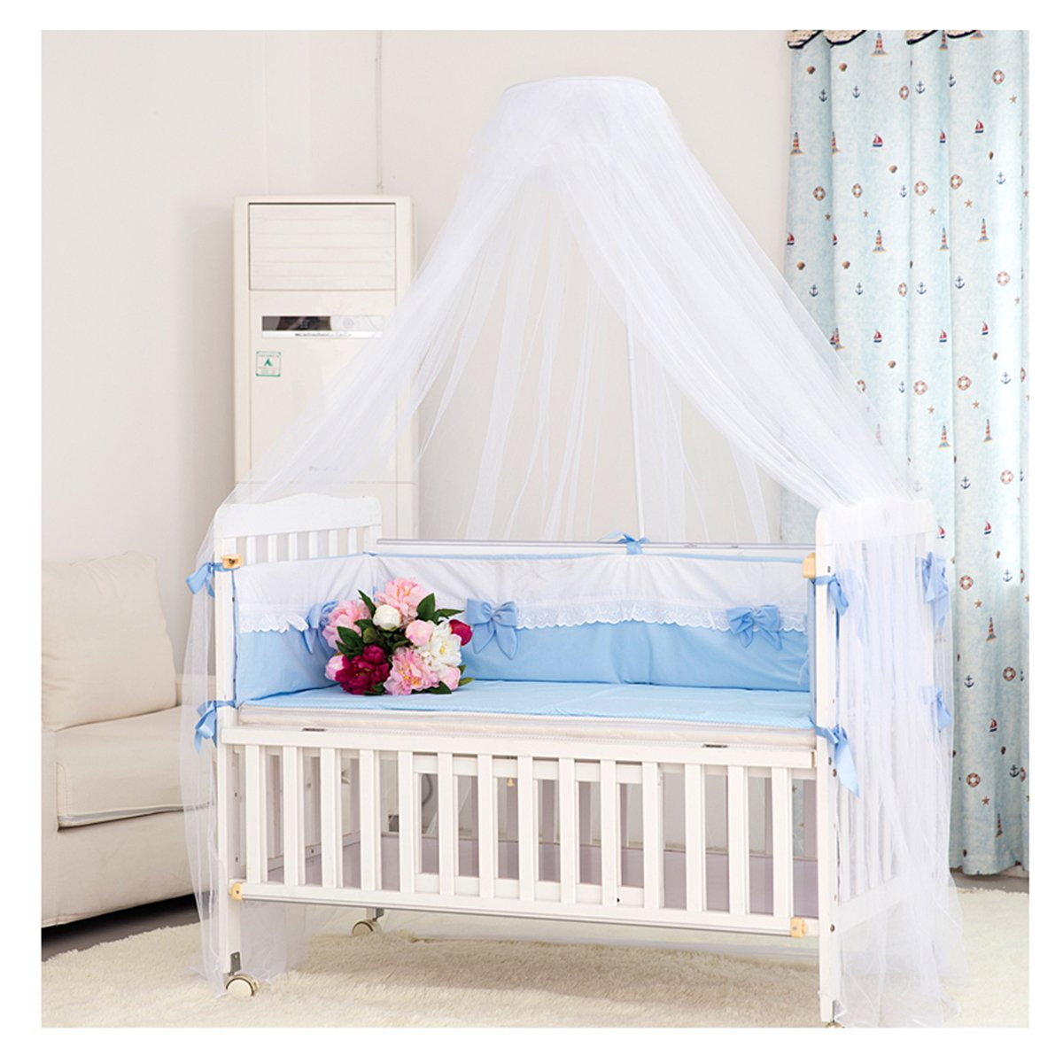 - LEORX Mosquito Netting Toddler Bed Crib Canopy Mosquito Netting
