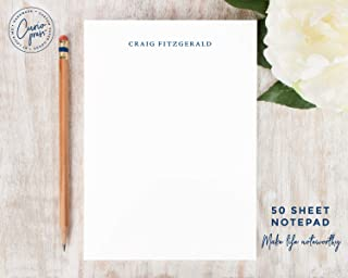 SIMPLICITY NOTEPAD - Personalized Custom Masculine Simple Professional Stationery/Mens Stationary Pad/Dad Husband Boss Gift
