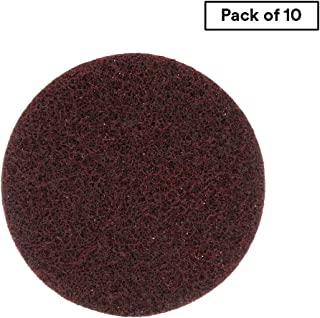 """Scotch-Brite Surface Conditioning Disc for Sanding – Metal Surface Prep – Hook and Loop – Aluminum Oxide – Medium Grit – 4.5"""" diam. – Pack of 10"""