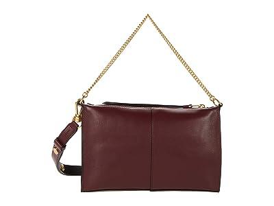 AllSaints Eve Crossbody (Burnt Sienna Red) Handbags