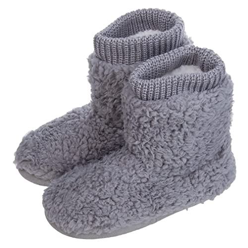 e4a056b65 Women's Comfort Warm Faux Fleece Fuzzy Ankle Bootie Slippers Plush Lining  Slip-on House Shoes