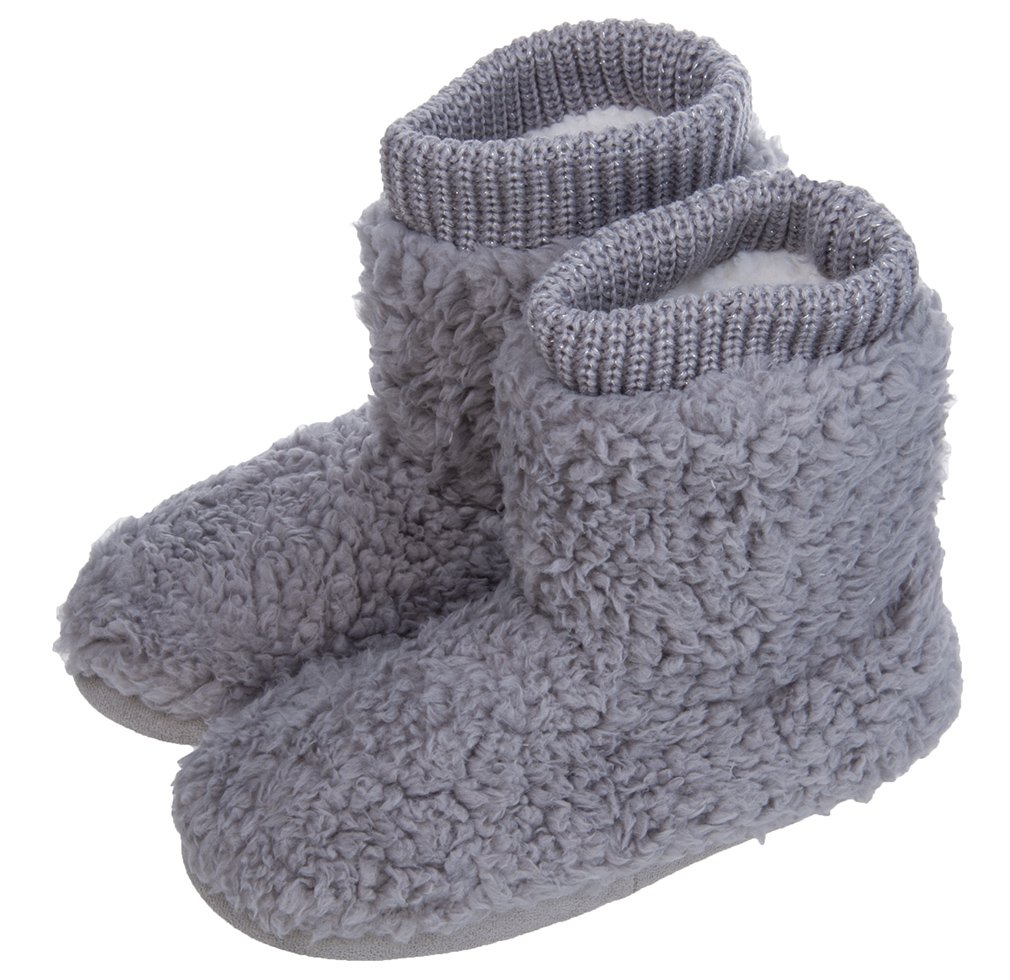 Image of Cozy Fuzzy Ankle Bootie Slippers for Women