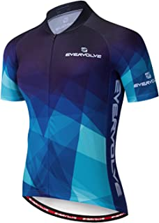 Evervolve Men's Cycling Jersey Short Sleeve Bike Top Road Bicycle Shirts