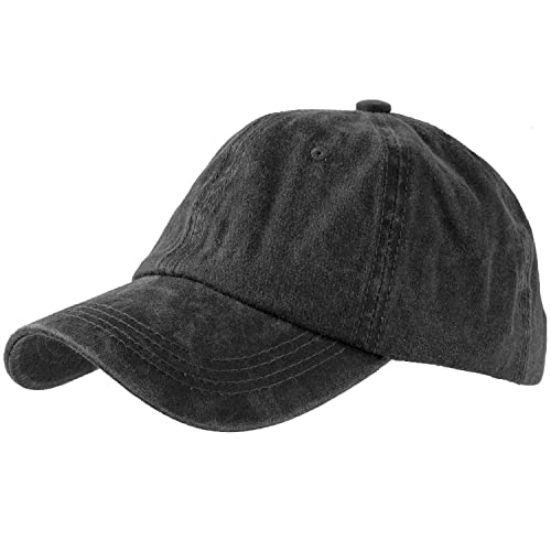 af1264003 Levine Hat Unisex Stone Washed Cotton Baseball Cap Adjustable Size (7+  Colors)