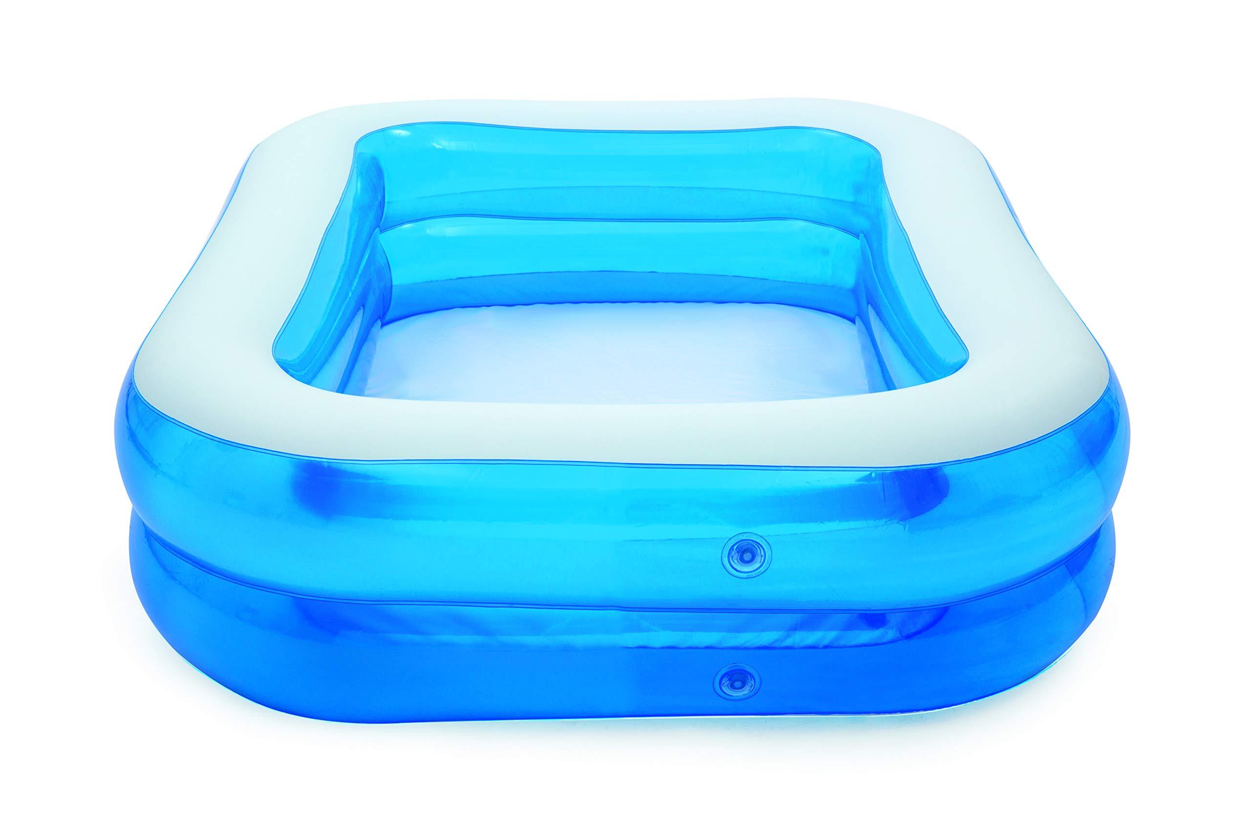 Bestway 54005 - Piscina Hinchable Infantil Blue Rectangular 201x150x51 cm: Bestway 79 x 59 x 20-inches Rectangular Family Pool: Amazon.es: Coche y moto