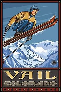 Vail Colorado Ski Jumper Travel Art Print Poster by Paul A. Lanquist (24