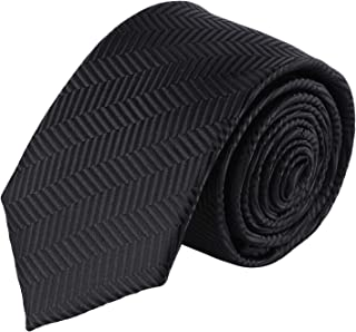 Jacob Alexander Boys Tone on Tone Herringbone Neck Tie