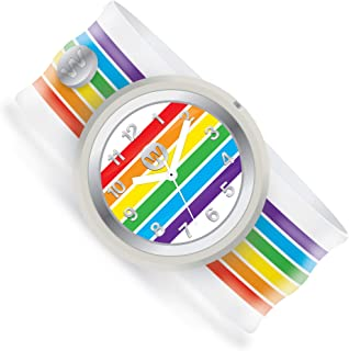 Watchitude Slap Watch - One Size, Boys and Girls, Plunge Proof, Removable Analog Face, Colorful and Inspiring, Interchangeable Silicone Bands, Fun and Inspiring Bracelet Watches
