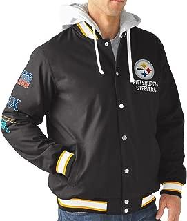 G-III Sports Pittsburgh Steelers Men's Long Sleeve Glory Hooded Varsity Jacket