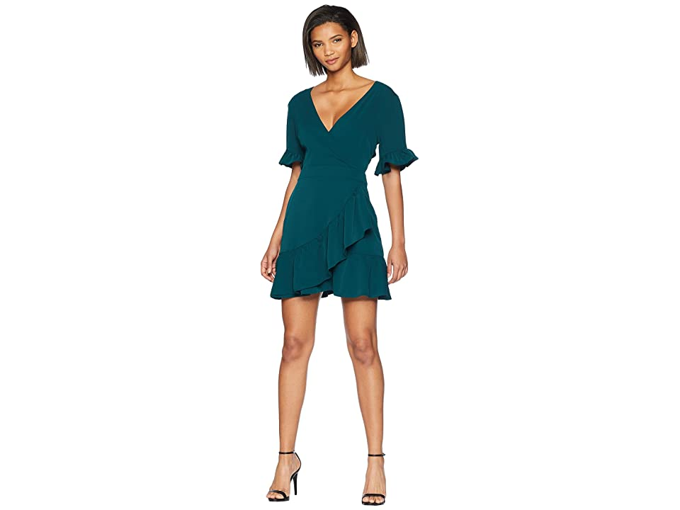 Adelyn Rae Kali Woven Ruffle Dress (Dark Teal) Women