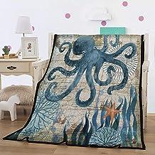 Felu Flannel Fleece Blanket Luxury 3D Octopus Printed Soft Cozy Lightweight Durable Plush Throw Blanket for Bedroom Living Rooms Sofa Couch