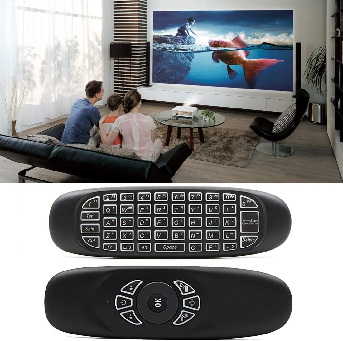 Max 49% OFF C120 Back-Light Air Limited time trial price Mouse 2.4GHz Gyroscope 3D Keyboard Wireless