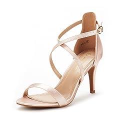 3d9438d1d0be3 Women s High Heel Open Toe Ankle Buckle Strap Platform Evening Dress ...
