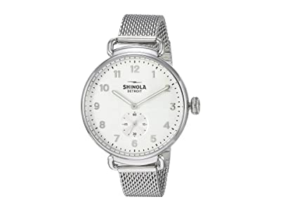 Shinola Detroit The Canfield 38mm 20121833 (Alabaster/Mesh Stainless Steel) Watches