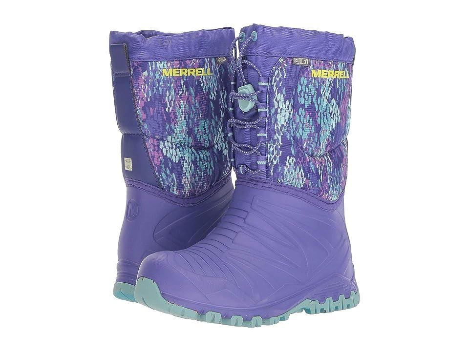 Merrell Kids Snow Quest Lite Waterproof (Little Kid) (Purple/Print) Girls Shoes