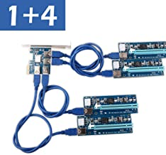 6pin // MOLEX // SATA Ubit PCI-E Riser Express Cable 16X TO 1X