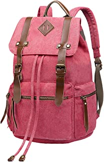 BeautyWill Damen & Herren Vintage Canvas Rucksack Wanderrucksack Reiserucksack Laptoprucksack Camping-Rucksack Schulrucksack Unisex-Rucksack für Freizeit und Outdoor-Sport