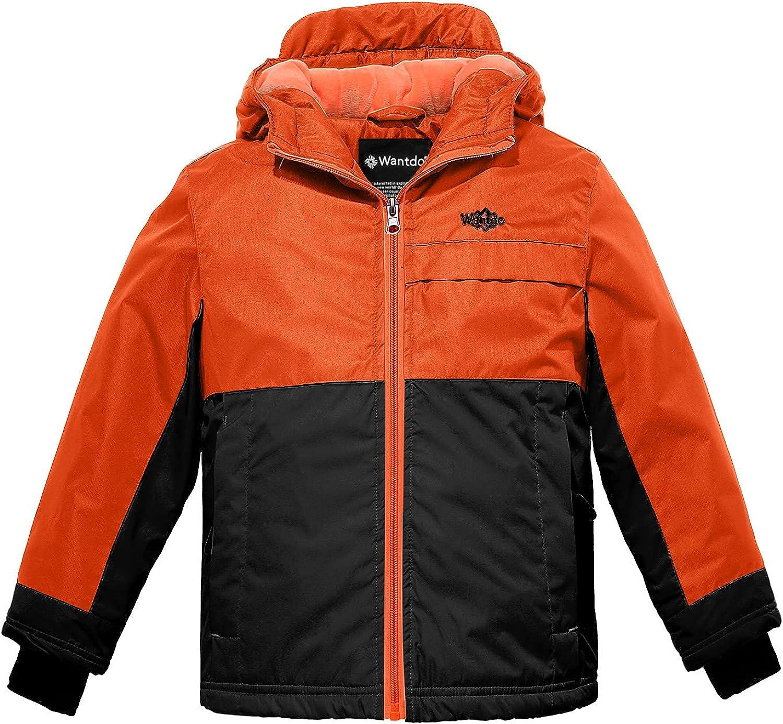 Wantdo Boy's Waterproof Snowboarding Jacket Windproof Ski Coat Hooded Winter Coats Outdoor Outwear