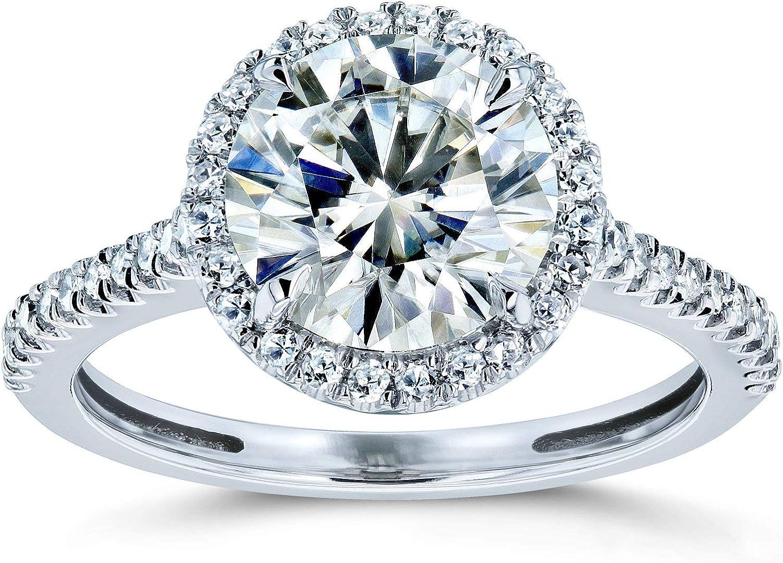 Kobelli Round Brilliant Attention brand Regular store Moissanite Engagement Halo Ring