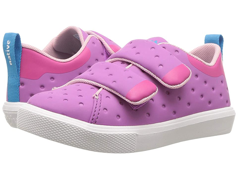 Native Kids Shoes Monaco HL CT (Toddler/Little Kid) (Peace Purple Coated/Hollywood Pink/Shell White) Girls Shoes