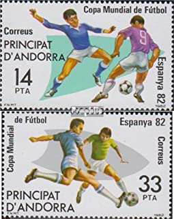 Andorra - Spanish Post 155-156 (complete.issue.) 1982 Football (Stamps for collectors) Soccer