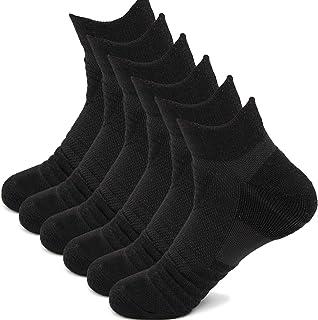 Bestele, 6 Pares Calcetines de Deporte para Hombre y Mujer, Calcetín Deportivos Algodón Cortos Sneakers Transpirables Calcetines de Atletismo Tobilleros para Fitness Running