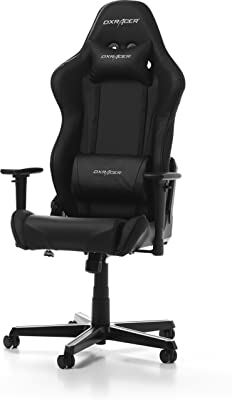 DXRacer Racing OH/RZ0/N Gaming Chair, Piel sintética, Negro, Normal