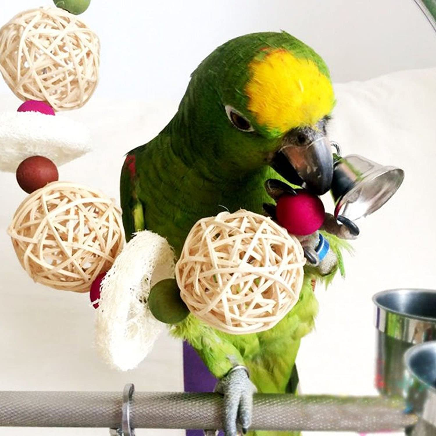 Sciotex(TM) Bird Cage Toys Kick Ball Sneaker Bird Toy Parred Cage Toys Decorative Bird Cages Parred Toys Bird Parred Supplies New