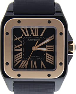 Cartier Santos 100 Automatic-self-Wind Female Watch 2878 (Certified Pre-Owned)