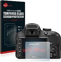 savvies Cristal Templado Compatible con Nikon D3300 Protector Pantalla Vidrio Proteccion 9H Pelicula Anti-Huellas