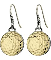 John Hardy - Dot Hammered Round Drop Earrings On French Wire